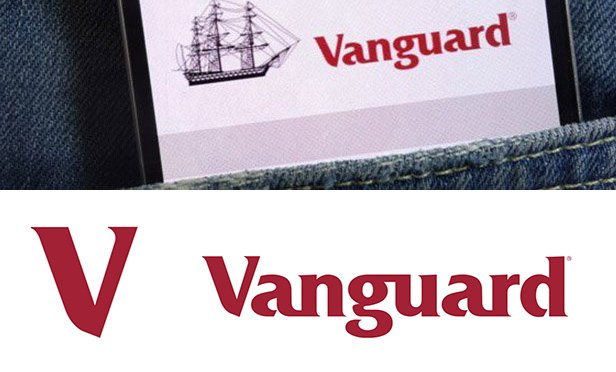Vanguard logos, old and new